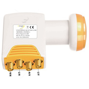 Golden Media Quattro LNB 204 MS+